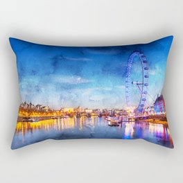 london-eye-ferris-wheel-london Rectangular Pillow