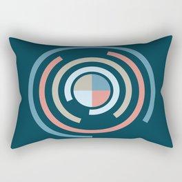 Colorful Circles V Rectangular Pillow