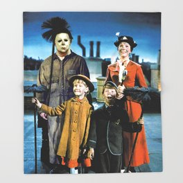 Michael Myers in Mary Poppins Throw Blanket