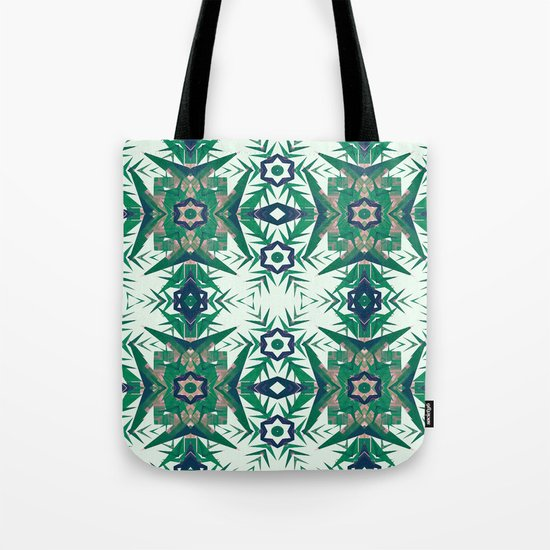 Tropical Snowflakes Tote Bag