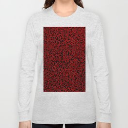 thought 2, red on black Long Sleeve T-shirt