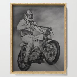 Evel rides Serving Tray