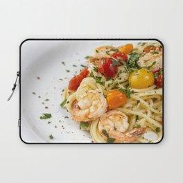 Spaghetti pasta with prawns Laptop Sleeve