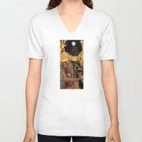 gustav klimt V-neck T-shirts featuring Klimt´s Judy Collage 2 by Marko Köppe
