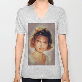 Donna Reed, Vintage Actress Unisex V-Neck