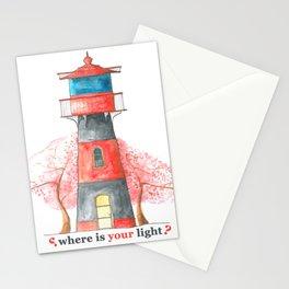 Lighthouse&Sacura Stationery Cards