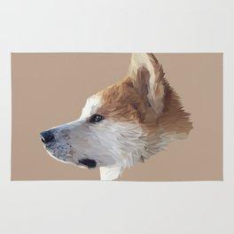 Akita low poly. Rug