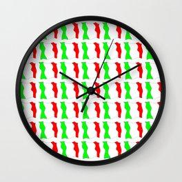 flag of Italy-Italy,Italia,Italian,Latine,Roma,venezia,venice,mediterreanean,Genoa,firenze Wall Clock