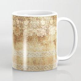 Vintage. The old lace. Vintage fabric . Coffee Mug
