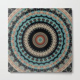 Aztec Boho Mandala Metal Print