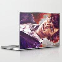 sherlock holmes Laptop & iPad Skins featuring Sherlock Holmes by Alice X. Zhang
