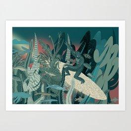 Forest Surfer Art Print