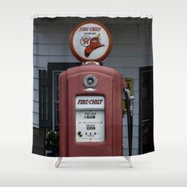 Fire Chief Gas Pump Shower Curtain