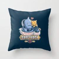 fullmetal Throw Pillows featuring Alphonse's Cat Sanctuary by adho1982