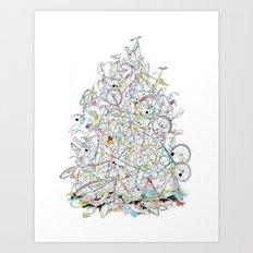 Bike Pile Art Print