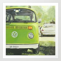 vw bus Art Prints featuring VW Bus by LisaRCain