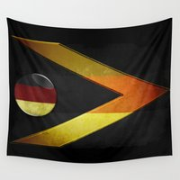 germany Wall Tapestries featuring Germany by ilustrarte