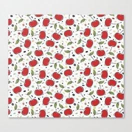 Cherries pattern Canvas Print