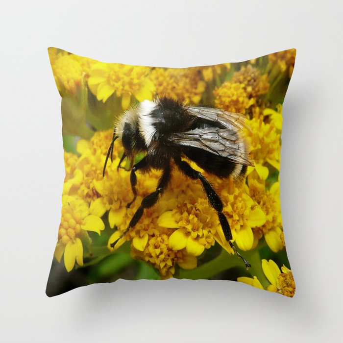 Buble Bee hard at work! Throw Pillow