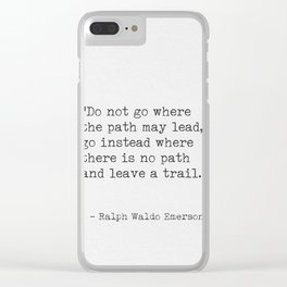 Ralph Waldo Emerson, awesome quote 3. Clear iPhone Case