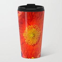 GREY ART YELLOW-RED POPPIES GARDEN ART Travel Mug