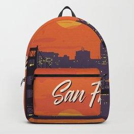 San Francisco vintage poster travel Backpack