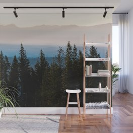 Forest Sunset - Nature Photography Wall Mural