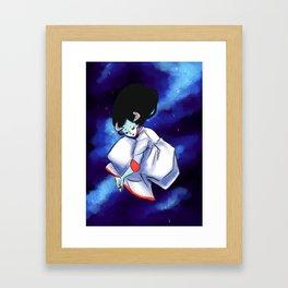 Moon Monster Framed Art Print