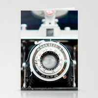 vintage camera Stationery Cards featuring Vintage Camera by Kurt Rahn