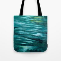 turquoise Tote Bags featuring Turquoise  by Mich Li