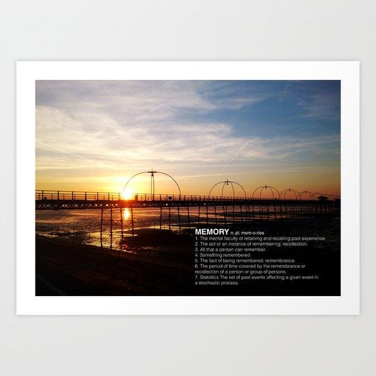 MEMORY OF THE SUNSET Art Print