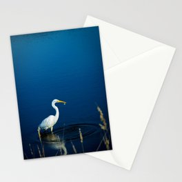 Great Egret Fishing Stationery Cards