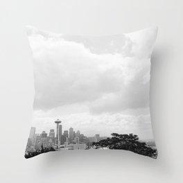 Seattle Days Throw Pillow