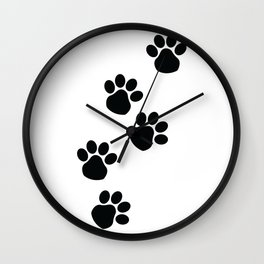 Lil' Black Paws Wall Clock