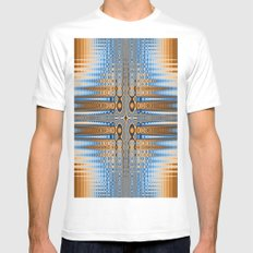 Abstract stained glass  White Mens Fitted Tee MEDIUM