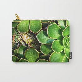 3 Succulents Carry-All Pouch