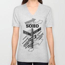SoHo, New York Unisex V-Neck