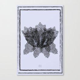 Flower Maze- Black & Purple Canvas Print