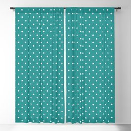 Dotted Turquoise Blackout Curtain