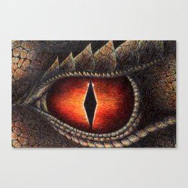 Red Dragon's Eye Canvas Print