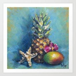 Tropical Dreams: Pineapple Painting Art Print