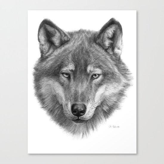 Wolf face G084 Canvas Print