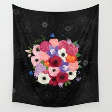floral topiary Wall Tapestry
