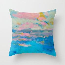 la mer in summer  Throw Pillow