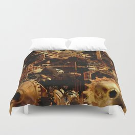 Steampunk Watch Gears and Cogs Duvet Cover