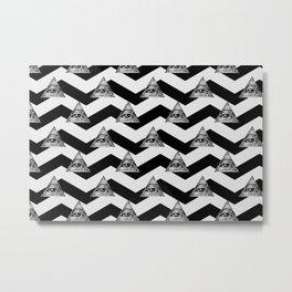 illuminati chevron white Metal Print