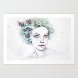 The arrival of butterlies Art Print