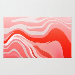 Red Abstraction Rug