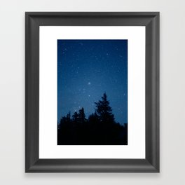 Starry Night Above the Forest Framed Art Print