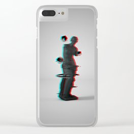 venus de milo glitch Clear iPhone Case